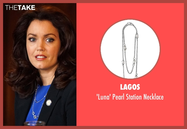 Lagos silver necklace from Scandal seen with Mellie Grant (Bellamy Young)