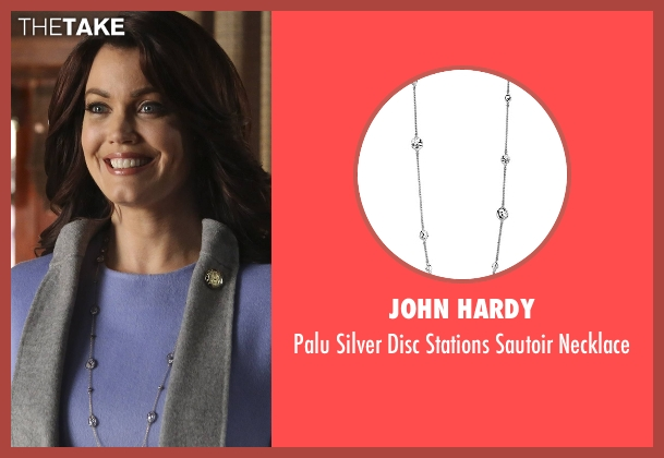 John Hardy silver necklace from Scandal seen with Mellie Grant (Bellamy Young)