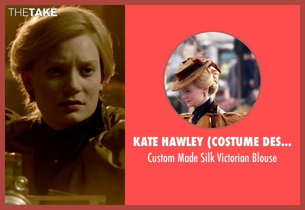 Kate Hawley (Costume Designer) black blouse from Crimson Peak seen with Mia Wasikowska (Edith Cushing)