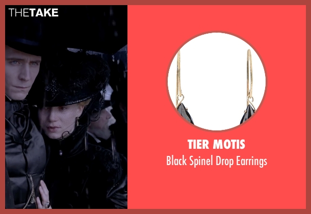 Tier Motis black earrings from Crimson Peak seen with Mia Wasikowska (Edith Cushing)