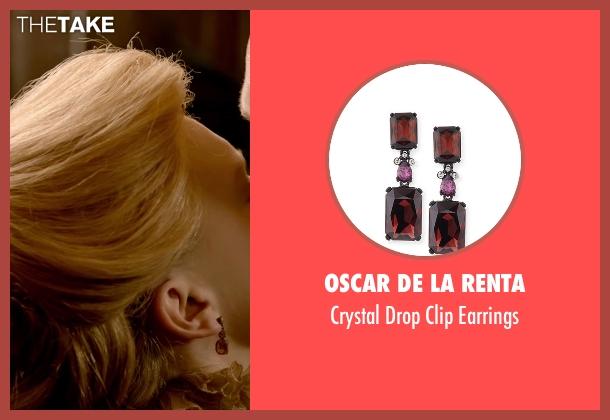 Oscar De La Renta red earrings from Crimson Peak seen with Mia Wasikowska (Edith Cushing)