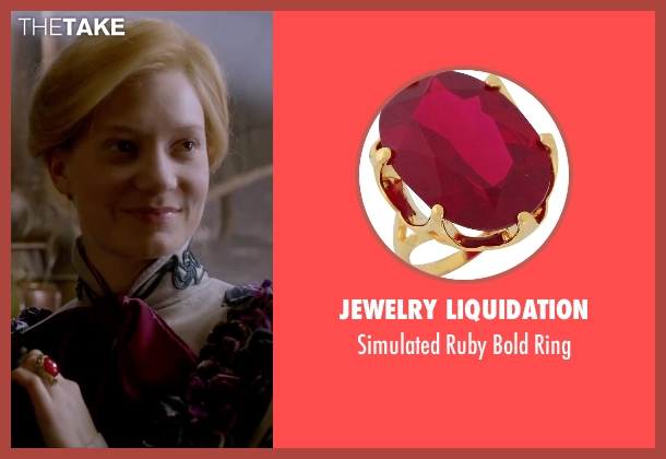 Jewelry Liquidation red ring from Crimson Peak seen with Mia Wasikowska (Edith Cushing)