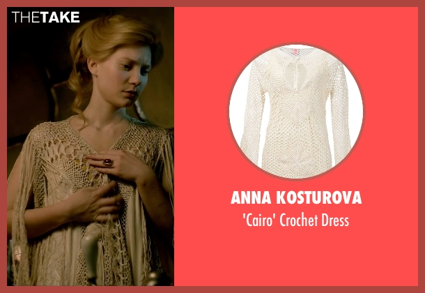 Anna Kosturova white dress from Crimson Peak seen with Mia Wasikowska (Edith Cushing)