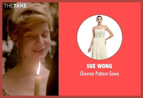 Sue Wong white gown from Crimson Peak seen with Mia Wasikowska (Edith Cushing)