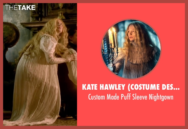 Kate Hawley (Costume Designer) white nightgown from Crimson Peak seen with Mia Wasikowska (Edith Cushing)