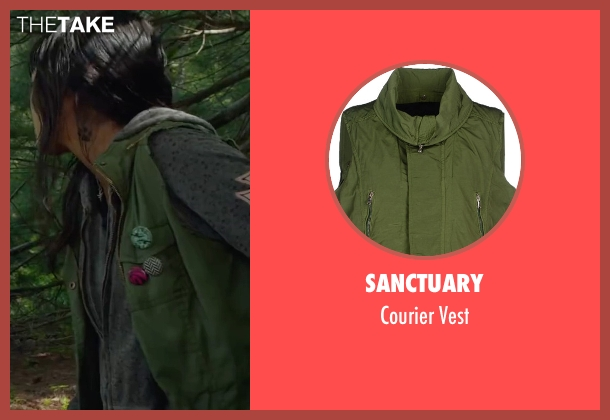 Sanctuary green vest from Max seen with Mia Xitlali (Carmen)