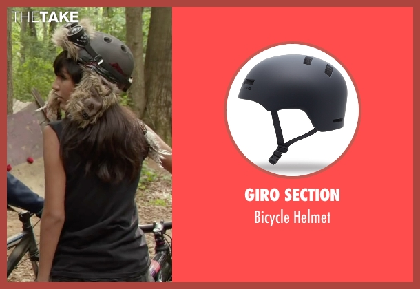 Giro Section helmet from Max seen with Mia Xitlali (Carmen)