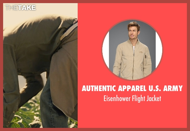 Authentic Apparel U.S. Army beige jacket from McFarland, USA seen with Michael Aguero (Damacio Diaz)