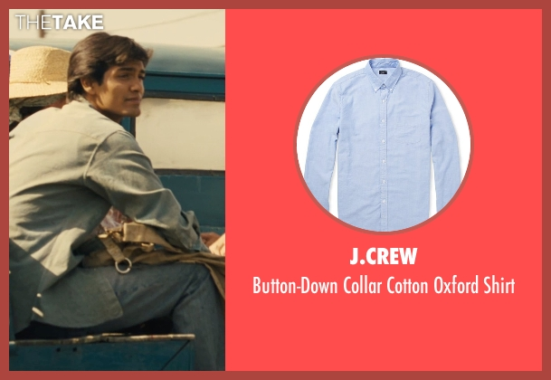 J.Crew blue shirt from McFarland, USA seen with Michael Aguero (Damacio Diaz)