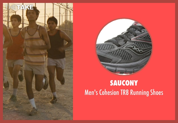 Saucony gray shoes from McFarland, USA seen with Michael Aguero (Damacio Diaz)