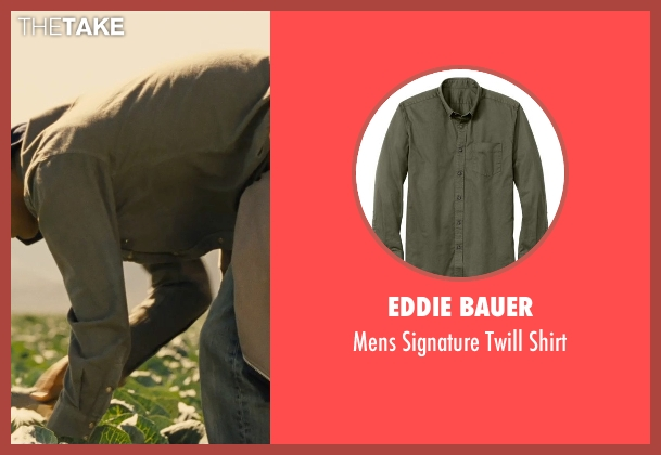 Eddie Bauer green shirt from McFarland, USA seen with Michael Aguero (Damacio Diaz)