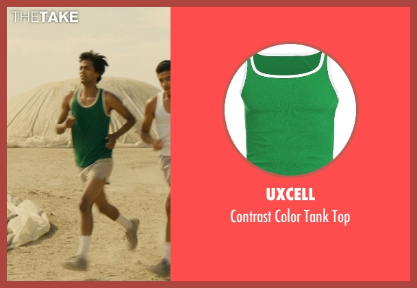 Uxcell green top from McFarland, USA seen with Michael Aguero (Damacio Diaz)