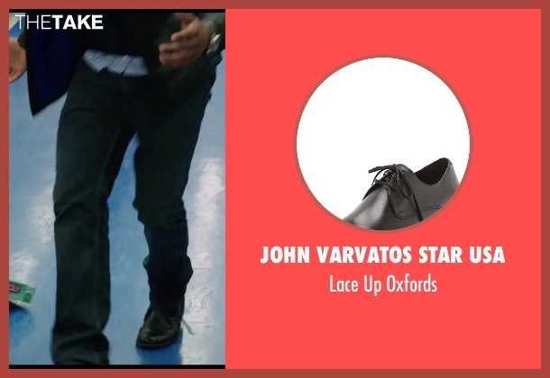 John Varvatos Star USA black oxfords from Chronicle seen with Michael B. Jordan (Steve Montgomery)