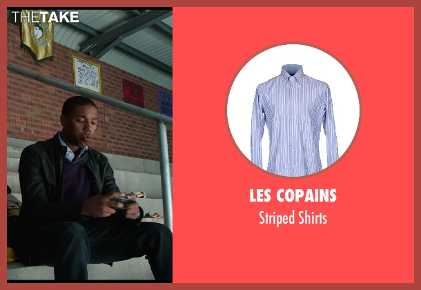 Les Copains blue shirts from Chronicle seen with Michael B. Jordan (Steve Montgomery)