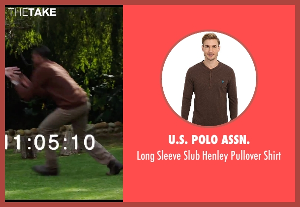 U.S. Polo Assn. brown shirt from Chronicle seen with Michael B. Jordan (Steve Montgomery)