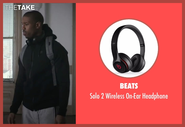 Beats black headphone from Creed seen with Michael B. Jordan (Adonis Johnson)