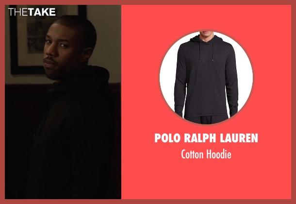 American Apparel black hoodie from Creed seen with Michael B. Jordan (Adonis Johnson)