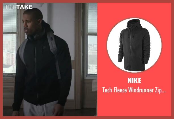 Michael B Jordan Nike Tech Fleece Windrunner Zip Hoodie
