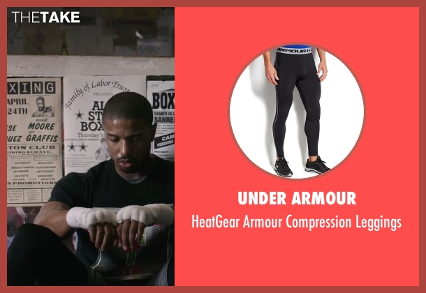 Under Armour black leggings from Creed seen with Michael B. Jordan (Adonis Johnson)