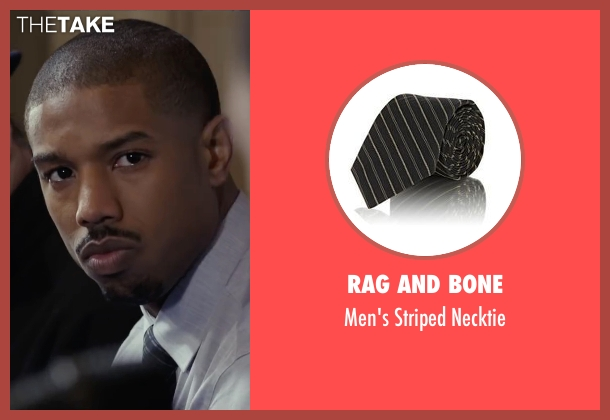 Rag and Bone black necktie from Creed seen with Michael B. Jordan (Adonis Johnson)
