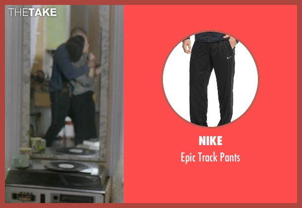 Nike black pants from Creed seen with Michael B. Jordan (Adonis Johnson)