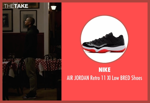 Nike black shoes from Creed seen with Michael B. Jordan (Adonis Johnson)