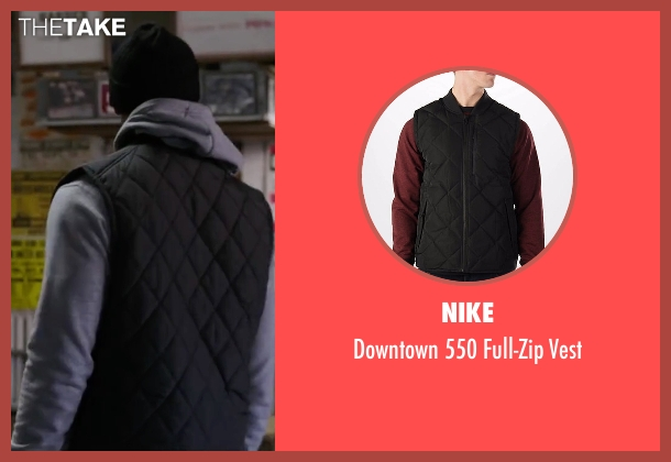 Nike black vest from Creed seen with Michael B. Jordan (Adonis Johnson)