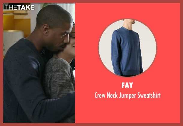 Fay blue sweatshirt from Creed seen with Michael B. Jordan (Adonis Johnson)