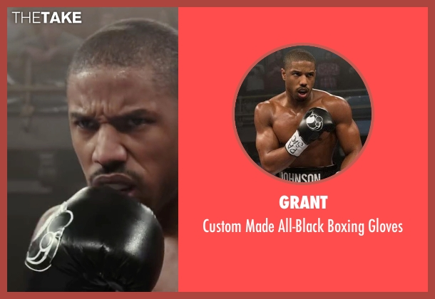 Grant gloves from Creed seen with Michael B. Jordan (Adonis Johnson)
