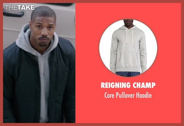 Reigning Champ gray hoodie from Creed seen with Michael B. Jordan (Adonis Johnson)