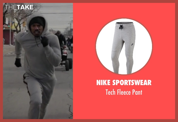 Nike Sportswear gray pant from Creed seen with Michael B. Jordan (Adonis Johnson)