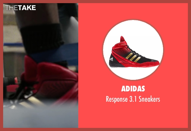 Adidas red sneakers from Creed seen with Michael B. Jordan (Adonis Johnson)