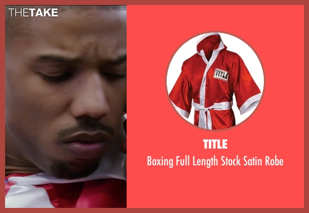 Title robe from Creed seen with Michael B. Jordan (Adonis Johnson)