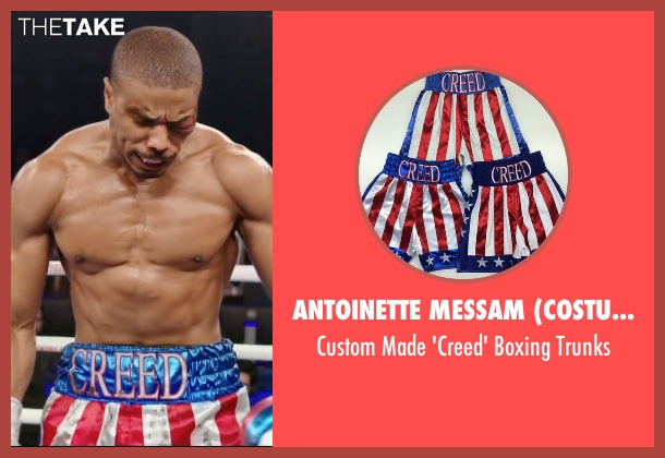 Antoinette Messam (Costume Designer) and Suzi Wong Creations (Tailor) trunks from Creed seen with Michael B. Jordan (Adonis Johnson)