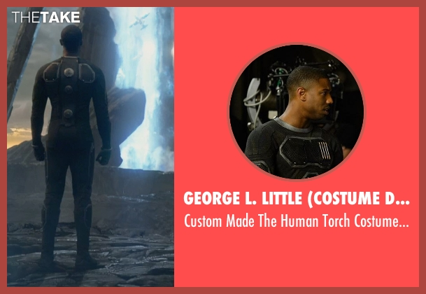 George L. Little (Costume Designer) costume from Fantastic Four seen with Michael B. Jordan (Johnny Storm / The Human Torch)