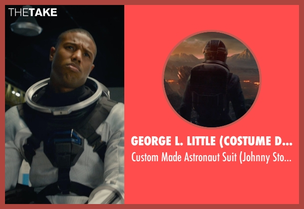 George L. Little (Costume Designer) suit from Fantastic Four seen with Michael B. Jordan (Johnny Storm / The Human Torch)
