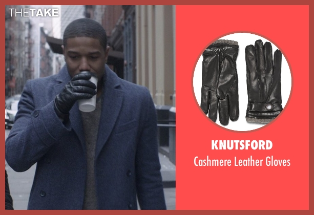 Knutsford black gloves from That Awkward Moment seen with Michael B. Jordan (Mikey)