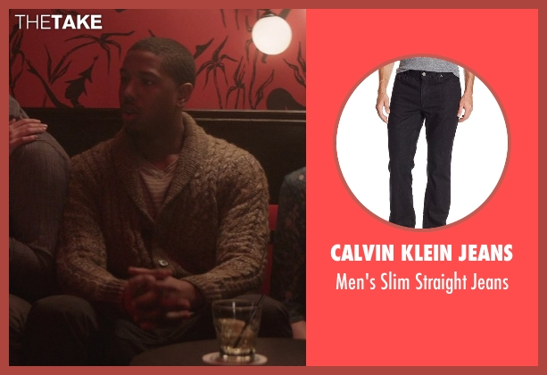 Calvin Klein Jeans black jeans from That Awkward Moment seen with Michael B. Jordan (Mikey)