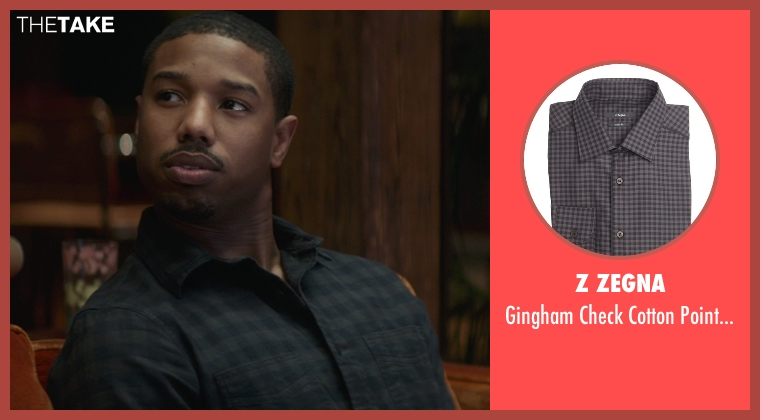 Z Zegna black shirt from That Awkward Moment seen with Michael B. Jordan (Mikey)