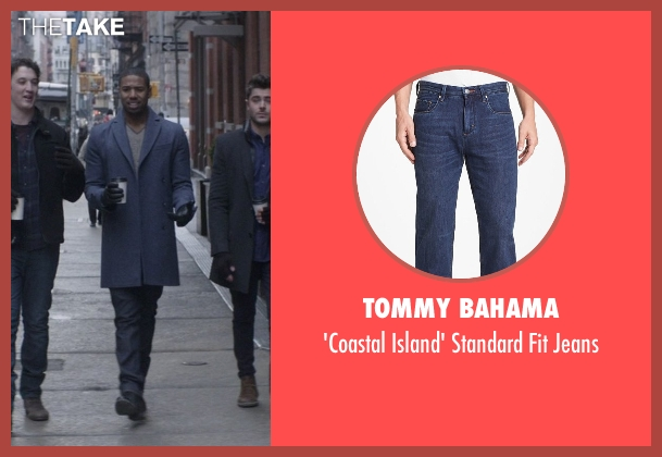 Tommy Bahama blue jeans from That Awkward Moment seen with Michael B. Jordan (Mikey)