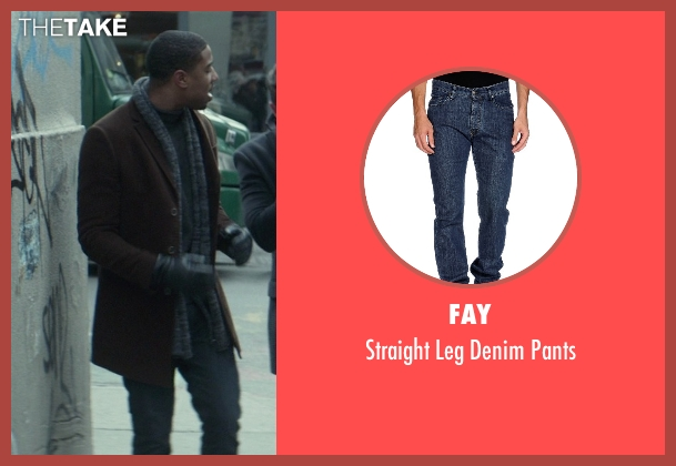 Fay blue pants from That Awkward Moment seen with Michael B. Jordan (Mikey)