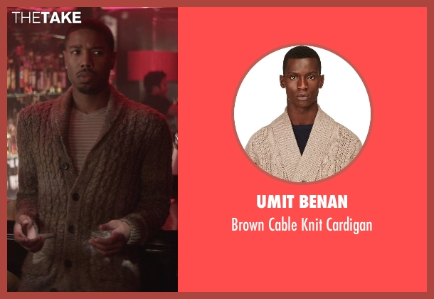 Umit Benan brown cardigan from That Awkward Moment seen with Michael B. Jordan (Mikey)