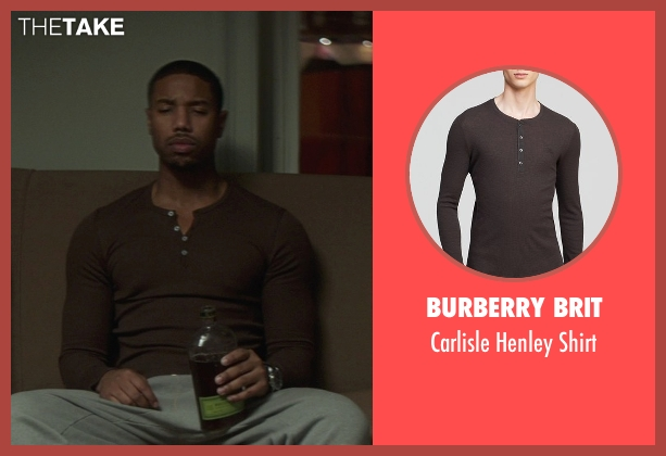 Burberry Brit brown shirt from That Awkward Moment seen with Michael B. Jordan (Mikey)