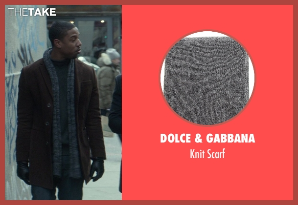 Dolce & Gabbana gray scarf from That Awkward Moment seen with Michael B. Jordan (Mikey)