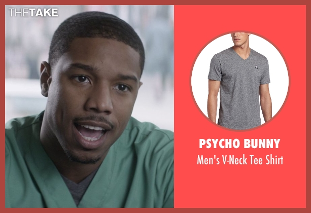 Psycho Bunny gray shirt from That Awkward Moment seen with Michael B. Jordan (Mikey)