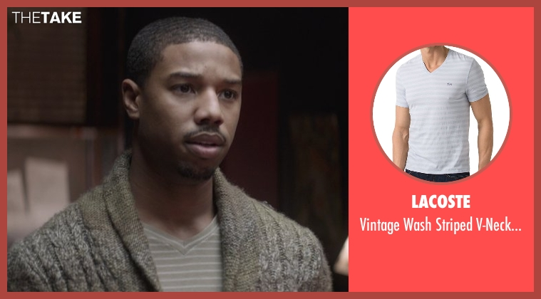 Lacoste gray shirt from That Awkward Moment seen with Michael B. Jordan (Mikey)