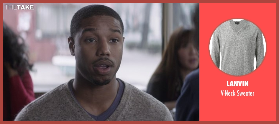 Lanvin gray sweater from That Awkward Moment seen with Michael B. Jordan (Mikey)