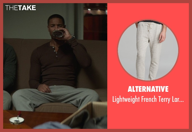 Alternative gray sweatpants from That Awkward Moment seen with Michael B. Jordan (Mikey)