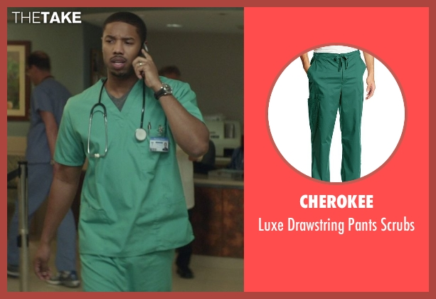 Cherokee green scrubs from That Awkward Moment seen with Michael B. Jordan (Mikey)