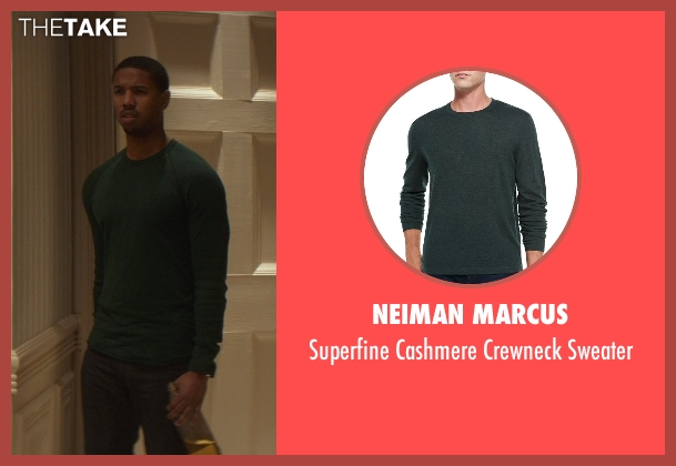 Neiman Marcus green sweater from That Awkward Moment seen with Michael B. Jordan (Mikey)